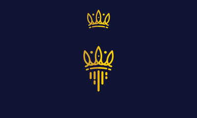 crown, kingdom, crown king, crown queen, power, jewelry, beautify, authority, gold, power, the power of the kingdom, the royal throne, emblem symbol icon vector logo