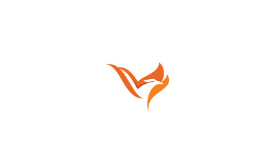 phoenix, bird, fire, fly, emblem symbol icon vector logo