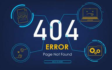 404 high-tech error page not found background