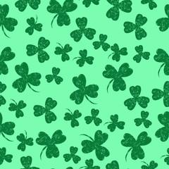 Saint Patricks Day. Green background shamrock