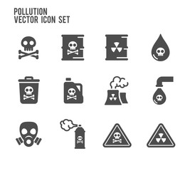 Poison Pollution Vector Icon Set
