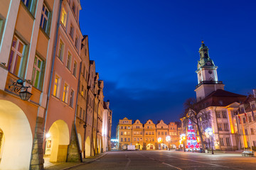 evening in Jelenia Gora, Lower Silesia, Poland
