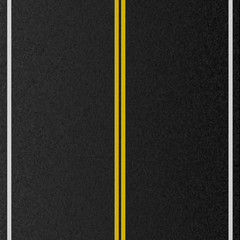 Design of empty urban road. Marking road, asphalt texture. Vector illustration