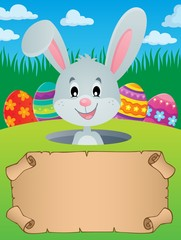 Parchment and Easter bunny theme 3