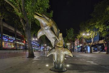 dolphin in pedestrian part in Varna