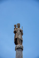 Detalle monumento a la Candelaria, santa cruz de tenerife