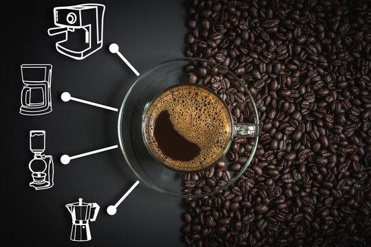 espresso and coffee maker icon