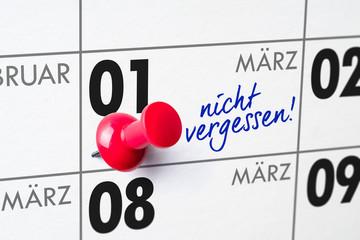 Wandkalender - 01. März