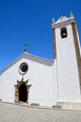 View of the Mother Church in the town, Monchique, Algarve, Portugal.