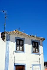 Traditional Portuguese building in the old town, Monchique, Algarve, Portugal.