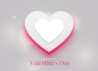 elegant 3d heart design for valentine's day