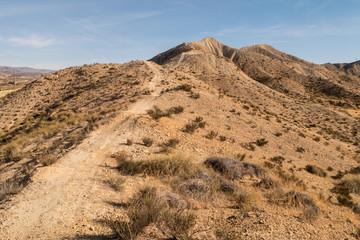Umgebung beim Fort Bravo - Andalusien - Weg auf den Bergkamm