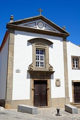 View of the Mercy church in the town, Monchique, Algarve, Portugal.