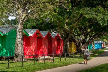 Vendor Booths around The Queen's Park Savannah