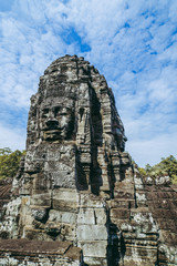 Bayon temple faces view, Angkor, Cambodia