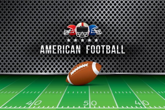 Vector of American football  background.