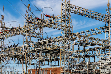 Dangerous High Voltage Electrical Power Substation V