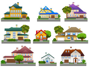 Houses icons, vector illustration