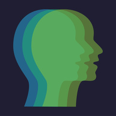 Concept different personalities capabilities, vector