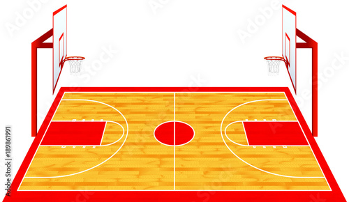 basketball court vector isolated stock image and royalty free rh eu fotolia com basketball court vector image basketball court vector logo