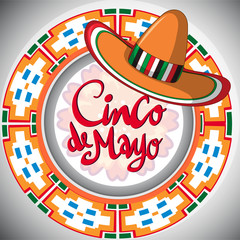 Cinco de Mayo design with mexican hat