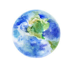 Earth, watercolor art