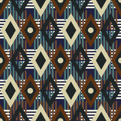 Colorful seamless pattern. Abstract geometric ethnic print