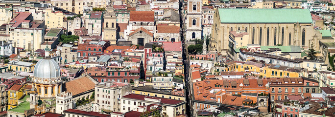 Fotobehang Napels Spaccanapoli, Naples Italy. View of Spaccanapoli street splitting city center