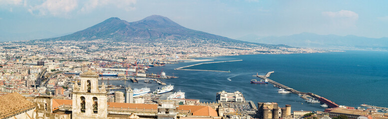 Naples skyline from Castel Sant'Elmo, Italy