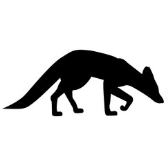 Vector image of a fox silhouette on a white background