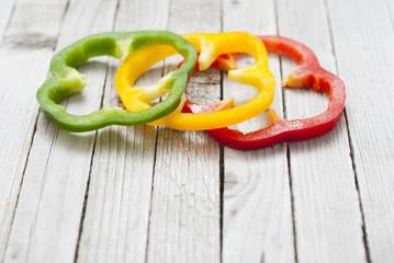 Sliced bell peppers