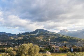 Mountains near valldemossa mallorca soller