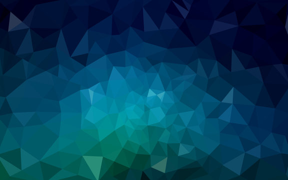 Dark Blue, Green vector abstract perspective background.