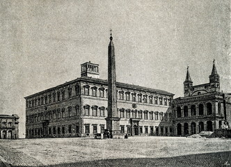 Lateran Palace, papal residence in southeast Rome, ca. 1890 (from Spamers Illustrierte  Weltgeschichte, 1894, 5[1], 442)