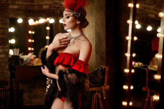 Pretty sexy girl in cabaret