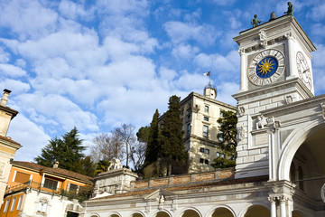 Udine - View of Clock Tower and Castle In Libertà square. Friuli-Venezia Giulia