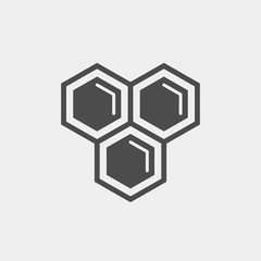 Honeycomb flat vector icon