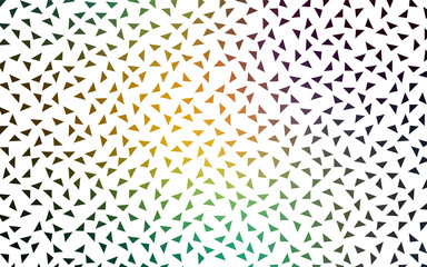 Light Blue, Green vector abstract pattern made up of colored triangles on white background.