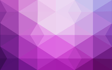 Light Purple vector Polygon Abstract Background. Polygonal Geometric Triangle.