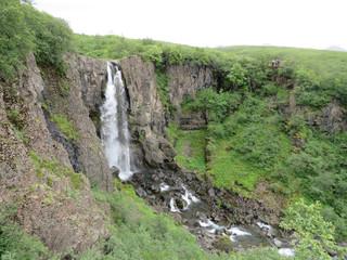 Iceland Hundafoss waterfall 2017