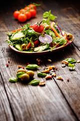rucola salat gemischt