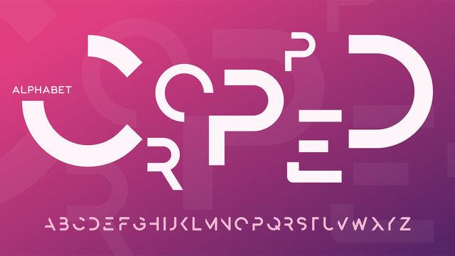 Minimalist cropped decorative typeface design