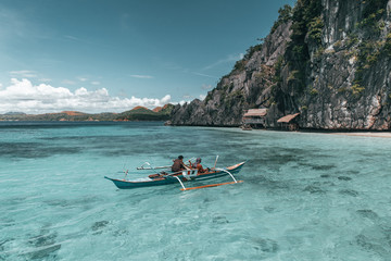 Philippines fishermans on a boat
