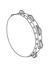 tambourine drum illustration   drawing