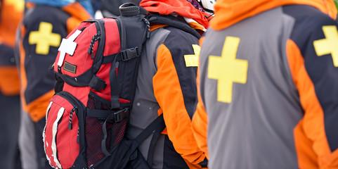 First aid ski patrol