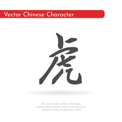 Chinese character tiger.