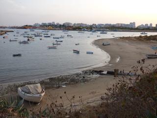 Ferragudo (Portugal) pueblo de Lagoa, en el Algarve junto a Portimao
