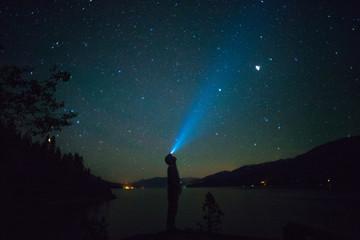 Foto auf Acrylglas Nordlicht Kootenay Lake Headlamp