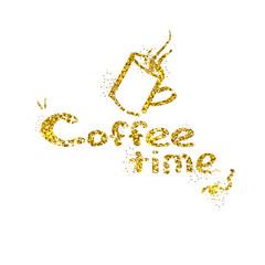 Vector illustration of a coffee break banner