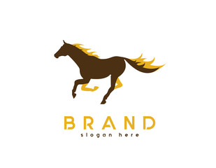 Horse flames logo